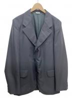 COMME des GARCONS HOMME DEUX(コムデギャルソンオムドゥ)の古着「シャドーストライプジャケット」|ブラック