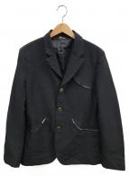 COMME des GARCONS HOMME DEUX(コムデギャルソン オム ドゥ)の古着「ポリ縮アーチジップポケットジャケット」|ネイビー