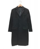GIVENCHY(ジバンシィ)の古着「ロットワイラーチェスターコート」|ブラック