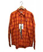 MSGM(エムエスジーエム)の古着「カミ―チャシャツ」|オレンジ
