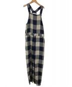 GALERIE VIE(ギャラリーヴィ)の古着「コンパクトレーヨンサロペット」|ネイビー