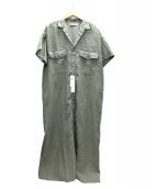 GALERIE VIE(ギャラリーヴィ)の古着「リネンポプリンシャツワンピース」 オリーブ