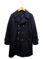ROBE DE CHAMBRE COMME DES GARCONS(ローブドシャンブルコムデギャルソン)の古着「ポリ縮コート」 ネイビー