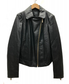 ARMANI EXCHANGE(アルマーニエクスチェンジ)の古着「ラヴサタデーライダースジャケット」 ブラック