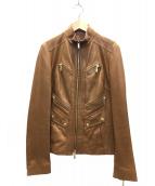 CELINE(セリーヌ)の古着「ラムレザージャケット」|ブラウン