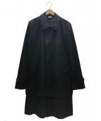 COMME des GARCONS HommePlus(コムデギャルソンオムプリュス)の古着「ドッキングコート」 ブラック