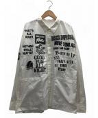 Hysteric Glamour(ヒステリックグラマー)の古着「LOGO PATCH 長袖オーバーシャツ」 ホワイト