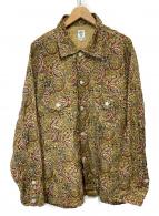 south2 west8(サウスツーウエストエイト)の古着「Smokey Shirt - Printed Flannel」 ベージュ