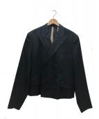 Jean Paul GAULTIER HOMME(ジャンポールゴルチエオム)の古着「ダブルジャケット」 ブラック