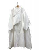 Omar Afridi(オマール アフリディ)の古着「ドレープドレイヤーコート」 ホワイト