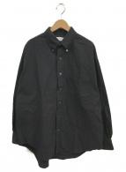 Graphpaper(グラフペーパー)の古着「オックスフォードL/Sボタンダウンボックスシャツ」 ブラック