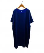 08sircus(ゼロエイトサーカス)の古着「ヴィンテージウォッシャーサテンドレス」 ブルー