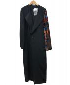 YohjiYamamoto pour homme(ヨウジヤマモトプールオム)の古着「紋章Aゴールド袖ドレス」|ブラック