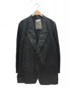 YohjiYamamoto pour homme(ヨウジヤマモトプールオム)の古着「2BピークJBフレアジャケット」|ブラック