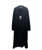YohjiYamamoto pour homme(ヨウジヤマモトプールオム)の古着「タキシードスタンドフォールカラーシャツコート」 ブラック