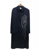 YohjiYamamoto pour homme(ヨウジヤマモトプールオム)の古着「手目刺繍ジャケット」|ネイビー