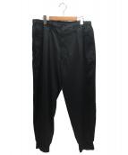 YohjiYamamoto pour homme(ヨウジヤマモトプールオム)の古着「タキシード裾リブパンツ」|ブラック