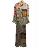 REPLAY(リプレイ)の古着「フラワープリントシャツドレス」 ベージュ