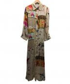 REPLAY(リプレイ)の古着「フラワープリントシャツドレス」|ベージュ