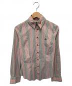 Vivienne Westwood RED LABEL(ヴィヴィアンウエストウッドレッドレーベル)の古着「ストライプシャツ」|ピンク