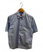 CDG JUNYA WATANABE MAN(コムデギャルソン ジュンヤワタナベマン)の古着「S/Sストライプシャツ」 スカイブルー