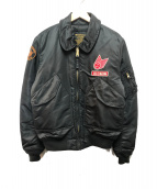 DEUS EX MACHINA×ALPHA(デウス エクス マキナ×アルファ)の古着「フライトジャケット」|ブラック