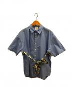 Mr.Gentleman(ミスタージェントルマン)の古着「S/Sバックポーチシャツ」|スカイブルー