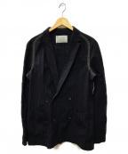 KOLOR(カラー)の古着「尾州硬化素材ジャケット」|ネイビー