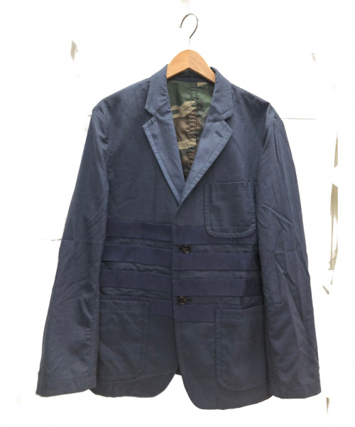 COMME des GARCONS HOMME(コムデギャルソンオム)COMME des GARCONS HOMME (コムデギャルソンオム) テープデザイン2Bジャケット ネイビー サイズ:S HC-J005 AD2018の古着・服飾アイテム