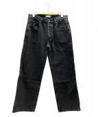 THE BLACK EYE PATCH(ザブラックアイパッチ)の古着「ハンドルウィズケアデニムパンツ」|ブラック