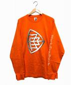 THE BLACK EYE PATCH(ザブラックアイパッチ)の古着「エンブレムL/S TEE」|オレンジ