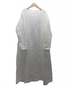 45R(フォーティファイブアール)の古着「二重織のレース刺繍ドレス」|ホワイト