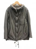 TRANSIT PAR-SUCH(トランジット パーサッチ)の古着「ラムレザー中綿ジャケット」|グレー