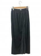 sacai luck(サカイ ラック)の古着「ウールレイヤードロングスカート」 ブラック