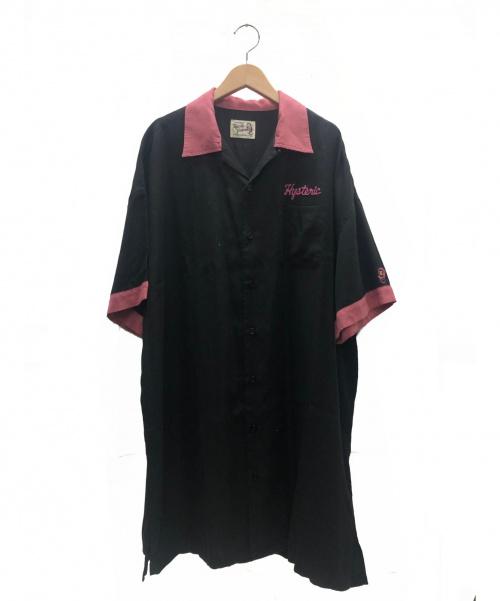 Hysteric Glamour(ヒステリックグラマ)Hysteric Glamour (ヒステリックグラマ) エンドレスナイト刺繍オーバーサイズボーリングシャツ ブラック×ピンク サイズ:フリー 参考定価¥29.800+税 01201AH04の古着・服飾アイテム