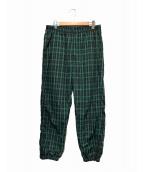 Supreme(シュプリーム)の古着「ナイロントラックパンツ」|グリーン×ブラック