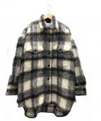 INSCRIRE(アンスクリア)の古着「シャギーチェックオーバーシャツ」|グレー×アイボリー