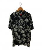 DOUBLE RAINBOUU(ダブルレインボー)の古着「オープンカラーシャツ」|ブラック