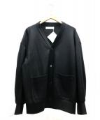 ETHOSENS(エトセンス)の古着「ウールカーディガン」|ブラック