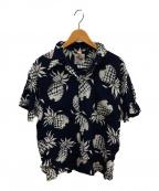 Sun Surf(サンサーフ)の古着「オープンカラーシャツ」|ネイビー