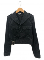 BLACK COMME des GARCONS(ブラックコムデギャルソン)の古着「レオパードショートジャケット」|ブラック