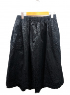 BLACK COMME des GARCONS(ブラックコムデギャルソン)の古着「レオパードロングスカート」 ブラック