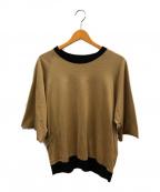 SUNSEA()の古着「トレックTシャツ」|ベージュ×ブラック