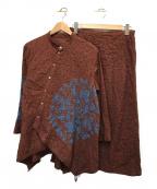 HaaT(ハート)の古着「刺繍セットアップスカート」|ブラウン