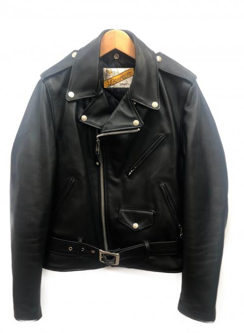 Schott(ショット)Schott (ショット) ダブルライダースジャケット ブラック サイズ:36の古着・服飾アイテム