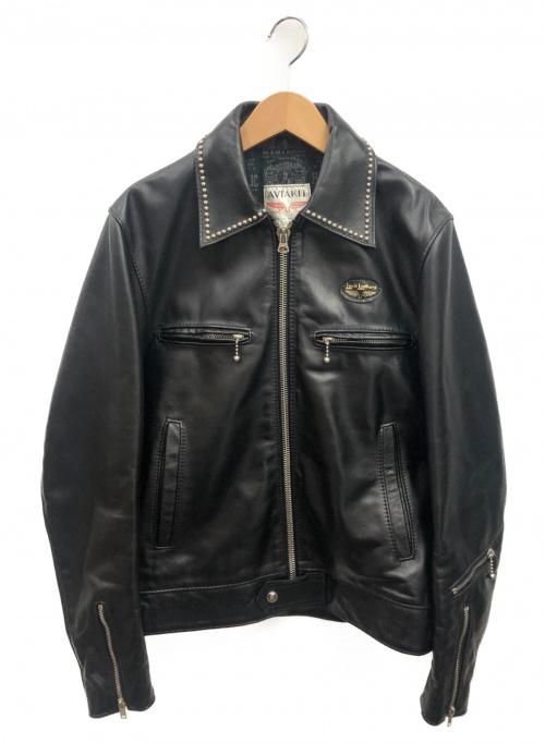 Hysteric Glamour × Lewis Leather(ヒステリックグラマー × ルイスレザー)Hysteric Glamour × Lewis Leather (ヒステリックグラマー × ルイスレザー) ドミネータースタッズシングルライダースジャケット ブラック サイズ:M  02171LB03 ドミネーターの古着・服飾アイテム