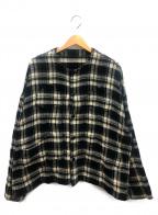 IROQUOIS(イロコイ)の古着「トリプルヤーンシャギーチェックシャツ」 ホワイト×ブラック