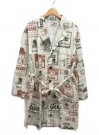 GANGSTERVILLE(ギャングスタビル)の古着「ロングショップコート」|ホワイト