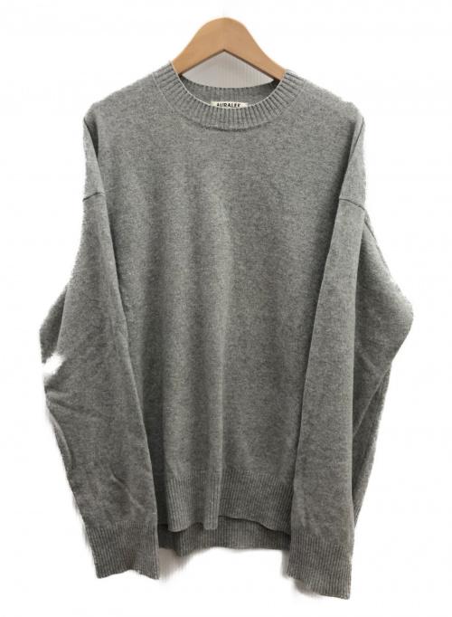 AURALEE(オーラリー)AURALEE (オーラリー) ウールニットビッグプルオーバー グレー サイズ:4 A5AP01WK 14.4μ WOOL KNIT BIG P/Oの古着・服飾アイテム