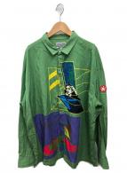 C.E(シーイー)の古着「オーバーサイズシャツ」 グリーン